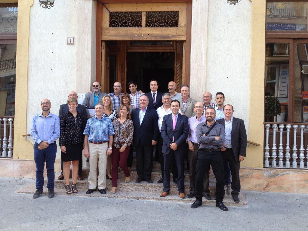 Reunión junta directiva de FEPEVAL en Almoradí, con nuevas adhesiones.