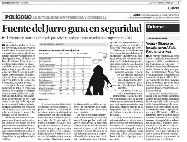Fuente del Jarro gana en seguridad