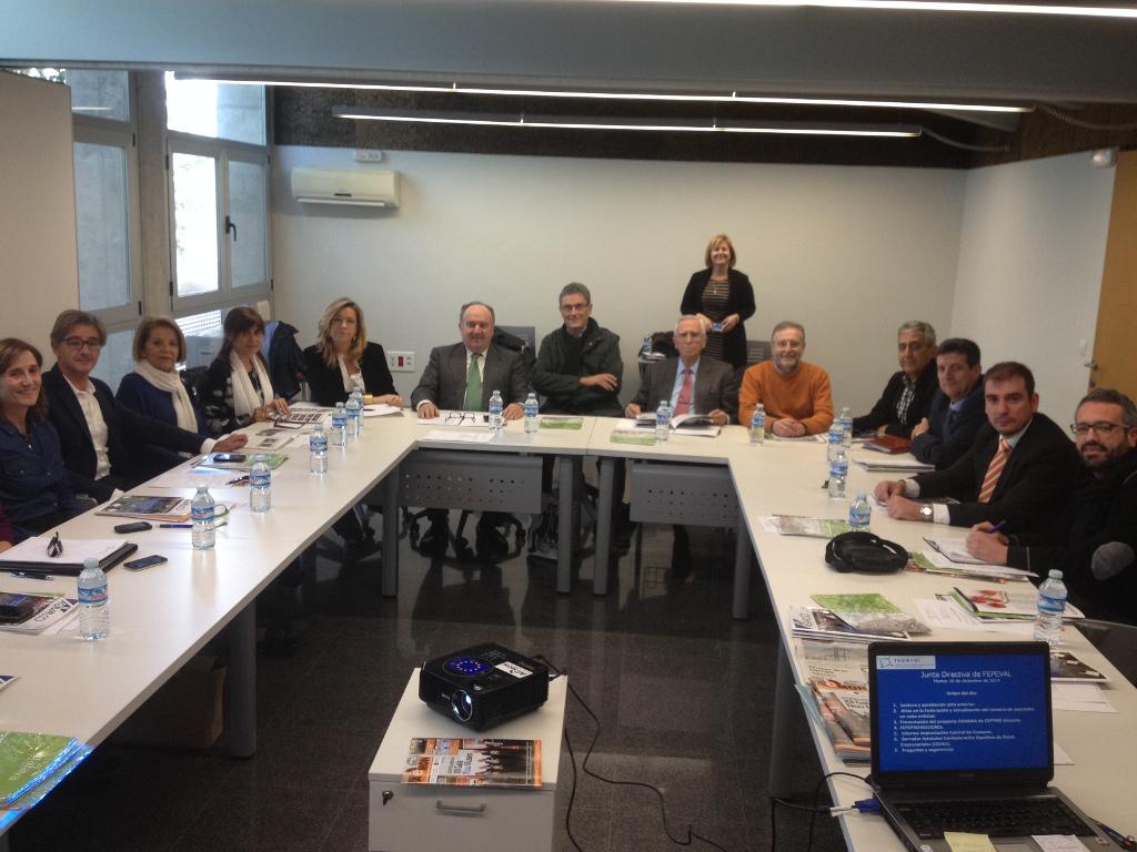 Reunión de la junta directiva de FEPEVAL en AEPI (Sant Vicent del Raspeig, Alicante)