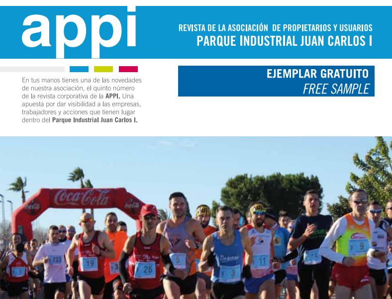 Nueva edición de la revista de APPI, Asociación de Propietarios y Usuarios del Parque Industrial Juan Carlos I (Almussafes).