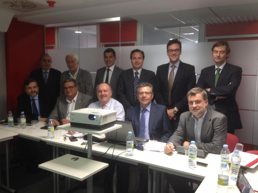 Reunión de la junta directiva de la Confederación Española de Áreas Empresariales (CEDAES).