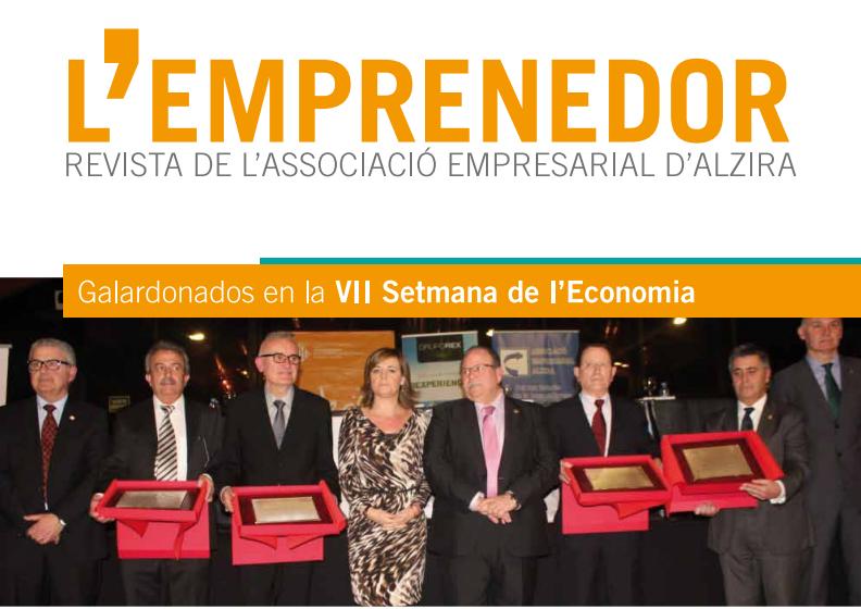 Edición nº 26 de L'Emprenedor, revista de la Associació Empresarial d'Alzira.