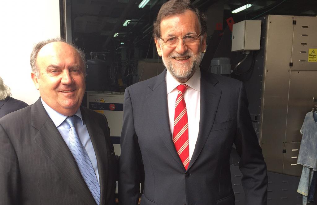 Santiago Salvador, presidente de FEPEVAL, junto al presidente del gobierno español Mariano Rajoy