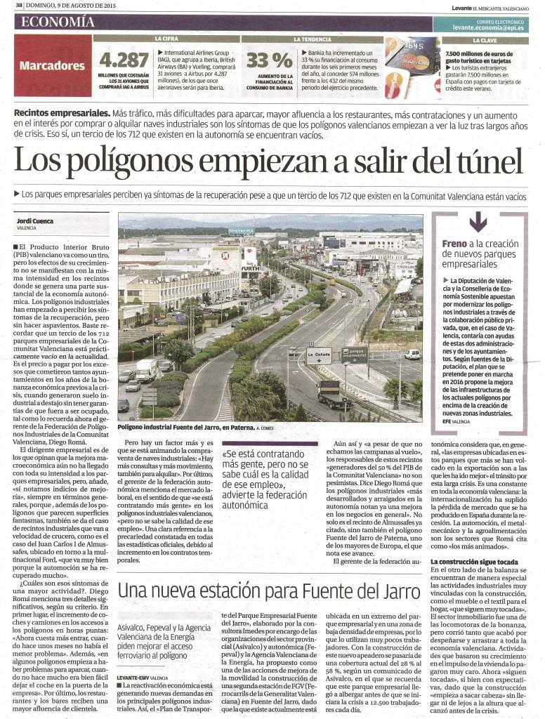 Los polígonos empiezan a salir del túnel, artículo de Jordi Cuenca