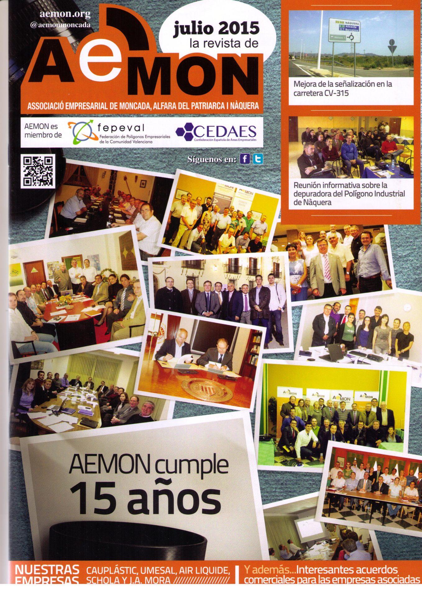 12ª edición de la revista de la Associació Empresarial de Moncada, Alfara del Patriarca i Nàquera (AEMON).