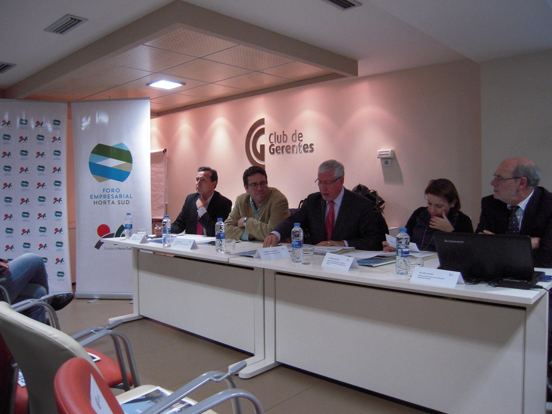 Gran éxito del Foro Empresarial Horta Sud sobre Políticas de Recuperación Económica y El Modelo de Futuro