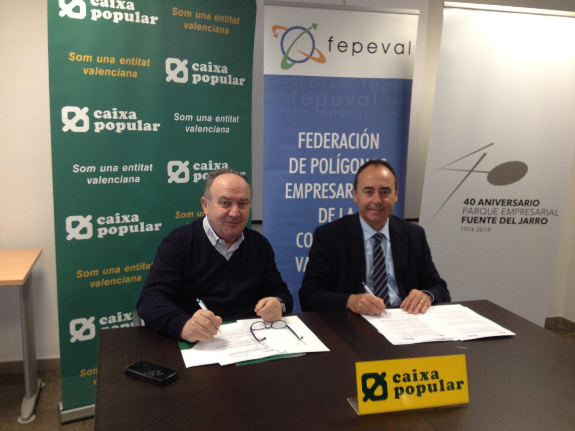 La Federación de Polígonos Empresariales de la Comunitat Valenciana y Caixa Popular renuevan su convenio de colaboración
