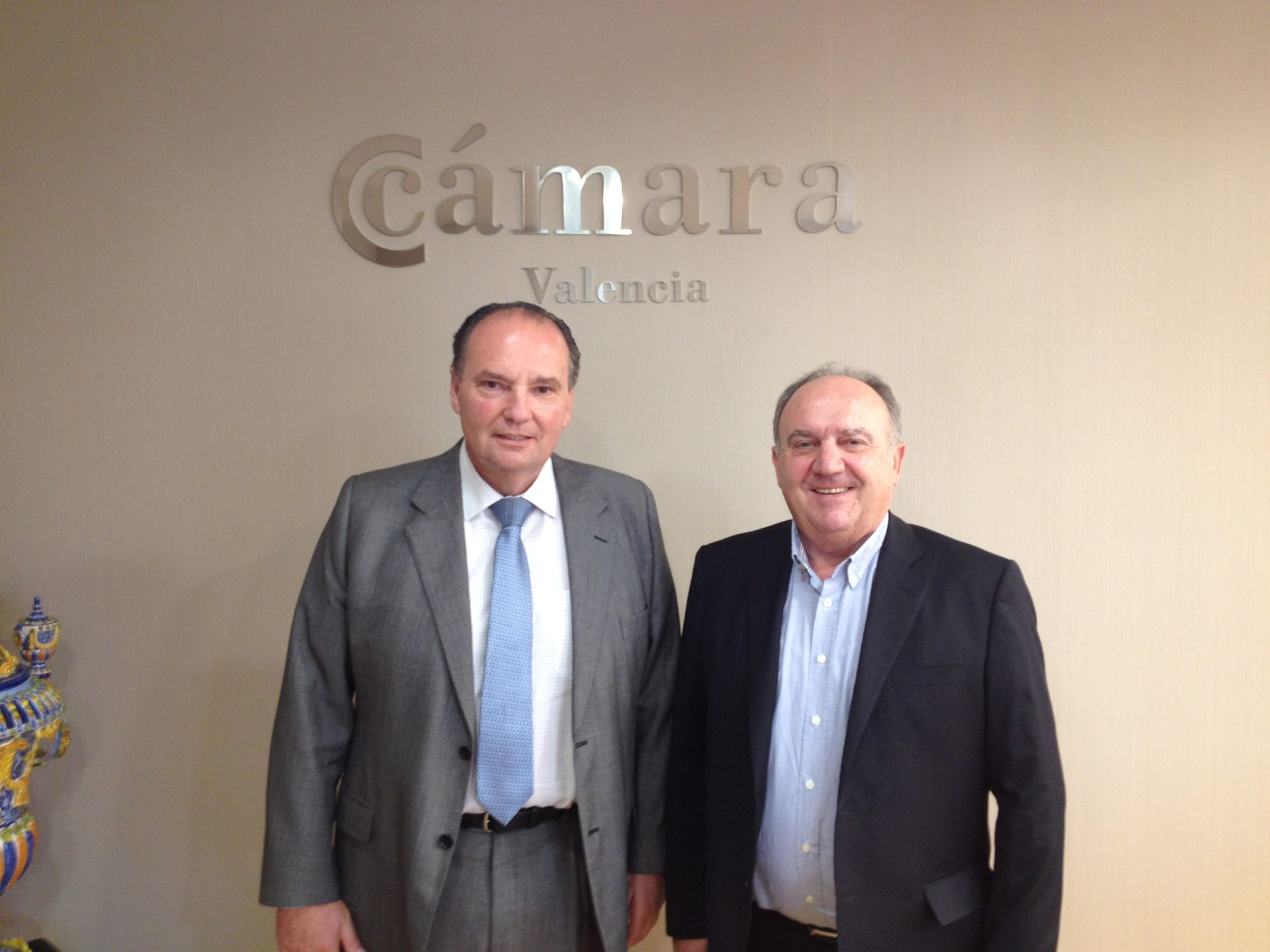 Santiago Salvador, presidente de FEPEVAL, se reúne con el presidente de las Cámaras de Comercio de la Comunitat Valenciana José Vicente Morata.