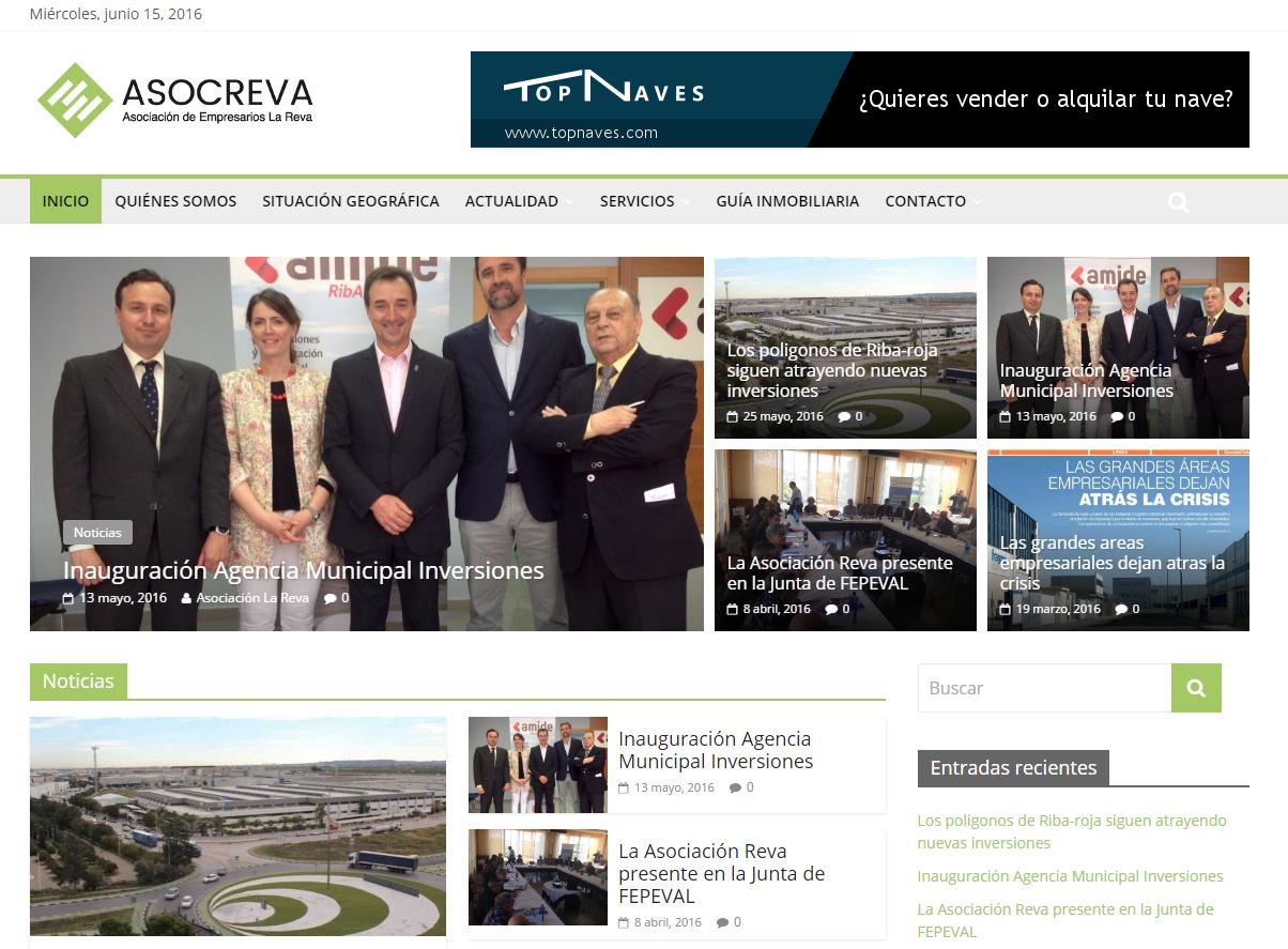 La asociación de Empresarios la REVA (Riba-roja) estrena página web