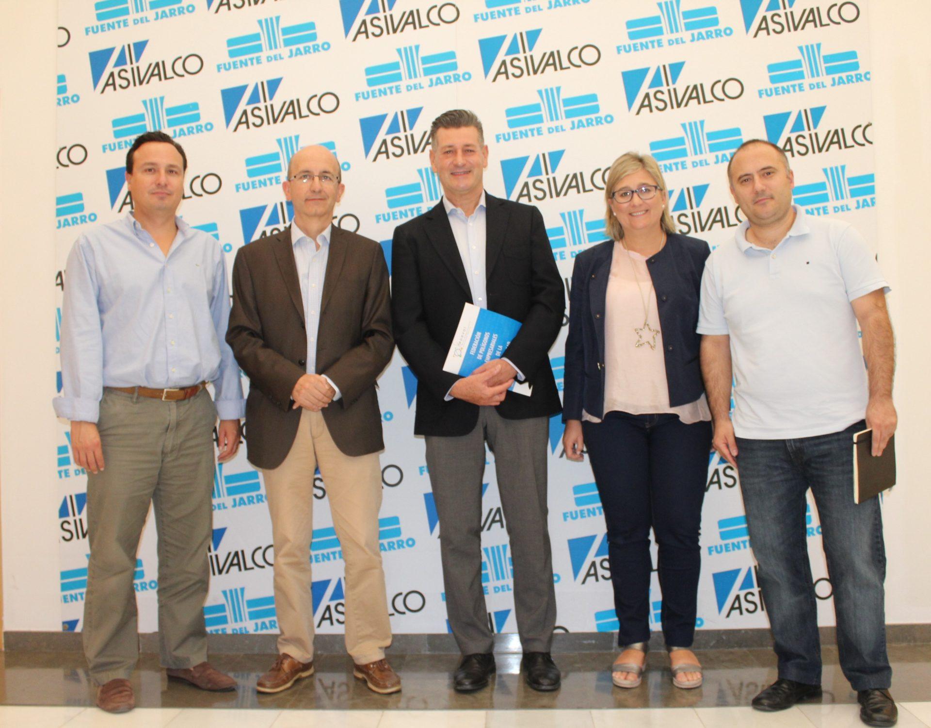 Los diputados provinciales de València José Enrique Aguar y Mamen Peris se reúnen con FEPEVAL.