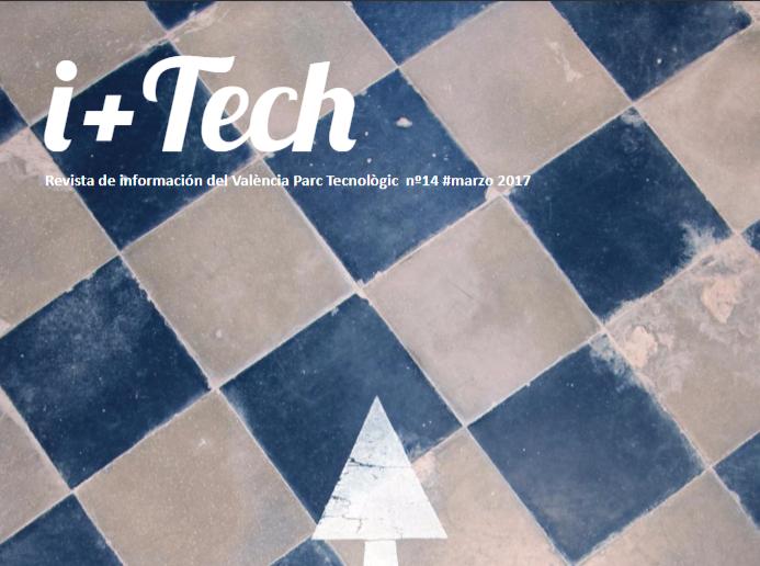 """14º número de la revista de València Parc Tecnològic """"I+Tech""""."""