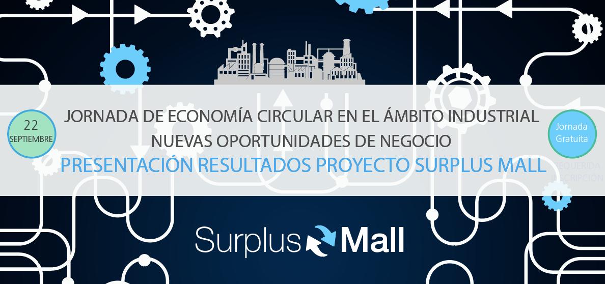 Jornada d'Economia Circular a l'àmbit industrial, presentació de resultats del projecte SURPLUS MALL. Divendres 22 de setembre 2017 a ASIVALCO.