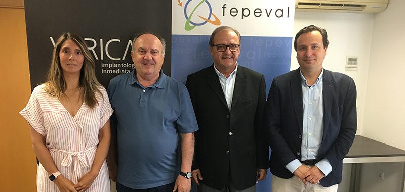 Acord corporatiu entre FEPEVAL i Vericat Implantología Immediata