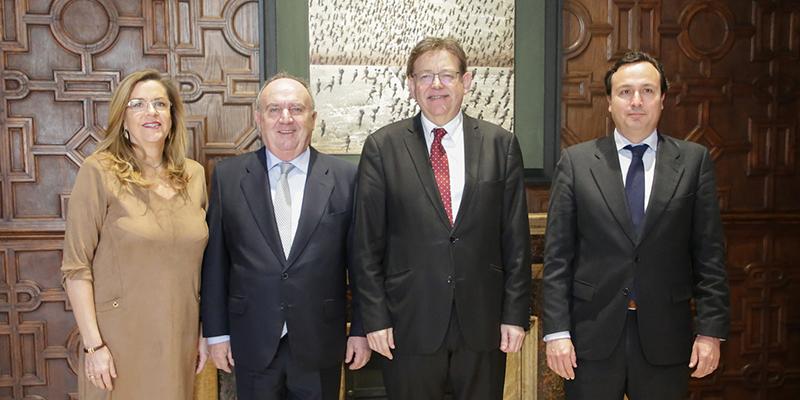 El president Ximo Puig mostra el seu suport a Fepeval per al desenvolupament de la Llei d'Àrees Industrials i de les Entitats de Gestió i Modernització