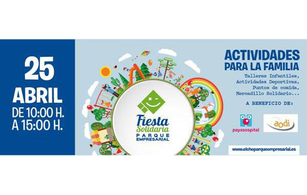 La IX Festa Solidària d'Elx Parc Empresarial se celebrarà el 25 d'abril