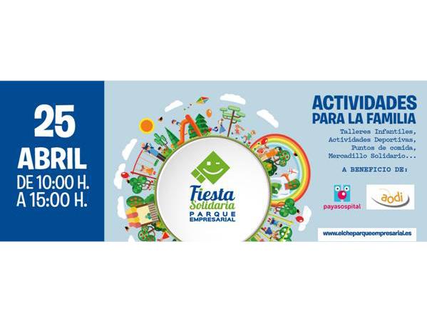 La IX Fiesta Solidaria de Elche Parque Empresarial se celebrará el 25 de abril